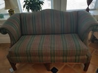 Gray, green, and red pinstriped loveseat Jacksonville, 32206