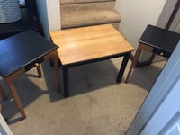 Smaller sized coffee table and end tables