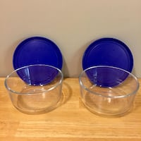 Pyrex storage dish with lid - 4 pieces North Vancouver