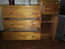 Wooden BUREAU/CHANGING  table use for anything