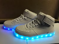 pair of white and blue lighten sole sneakers Dallas, 75227