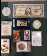 Assortment of gold and silver Coins and bars Bingham Canyon, 84006