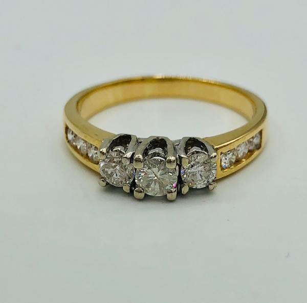 14k yellow gold and diamond ring  1