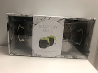 Moscow mule cocktail black mugs cups gift set Arlington, 22201