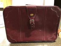 Flying Time Vintage Maroon Suitcase  30 mi