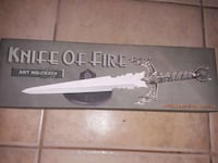 Brand New Knife Of Fire Display Knife Las Vegas, 89104