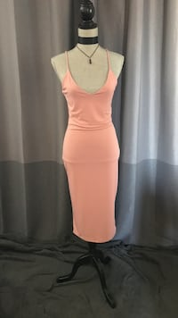 Ladies blush pink maxi dress Size small Edmonton, T6K 3K2