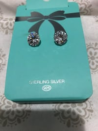 Australian brand named sterling silver diamond earrings Toronto, M9M 2N7