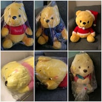 Winnie the Pooh Plushies from Japan Burnaby, V5C 0K2