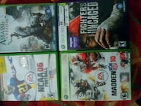 four assorted Xbox 360 game cases Houston, 77042