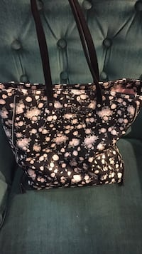 black and white floral tote bag Fort Worth, 76103
