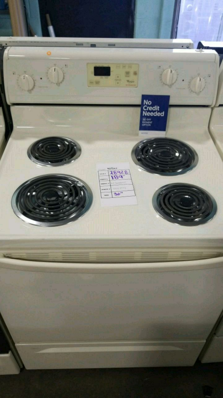 used whirlpool bisque electric stove 30inches for sale in queens letgo rh gb letgo com