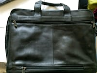 black leather briefcase/computer case 37 km