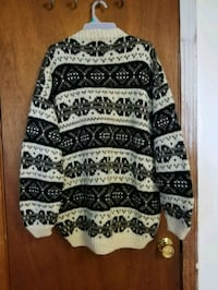 white and black tribal print sweater Reading, 01867