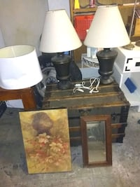 brown and white table lamp 155 mi