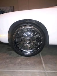 22 inch rims brand new tires