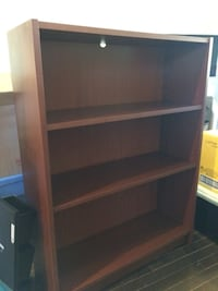 Short brown IKEA bookcase Calgary, T2T 0K5