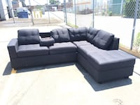 gray and black sectional couch Toronto, M8Z