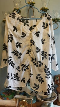 Black/white blouse from Monroe &Main South Bend, 46628