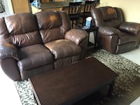 Brown leather home theater sofa and recliner Santa Rosa, 95403