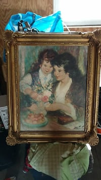 female and girl holding flower painting with brown wooden frame Broken Bow, 68822