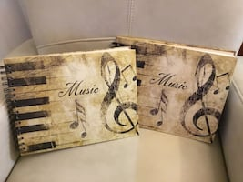 2 New Hardcover Piccadilly Music Composition Notebooks for $15 total.