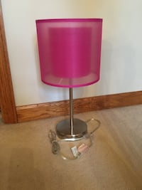 pink and gray table lamp Butler, 16001