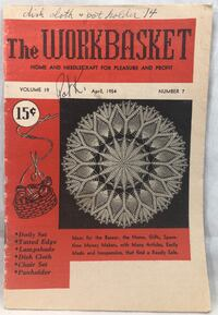 Workbasket Magazine Home Needlecraft Projects Vintage April 1954 Crafts 48pgs  May have writing, fading/yellowing, corners bent or loose pages.   6276 Thousand Oaks