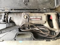 gray and black Craftsman corded power tool