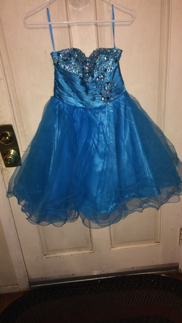183d65acf3f Used blue strapless dress (size  extra small) for sale in Babylon ...