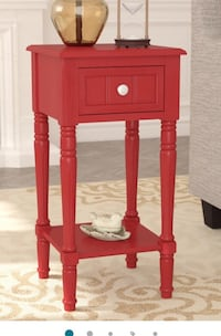 End table in a rich burgundy colour (as per second pic). Brand new in box. Assembly required  Halton Hills, L0P 4S4