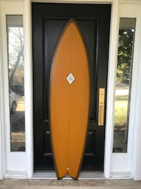 "Josh Oldenburg Classic Fish 6'-2"" Surfboard, Handmade in CA BURKE"