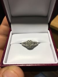 Silver and diamond ring in box Fort Myer, 22211