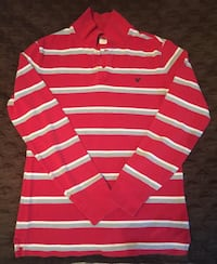 White and red striped american eagle long-sleeved polo shirt Kingstree, 29556