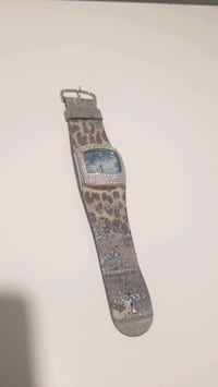 Leopard print leather watch with crystals Vancouver, V7Y 1G5
