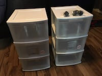 Plastic drawers for storage Surrey, V3S 8X3