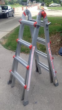 Gray and red werner a-frame ladder Dearborn, 48124