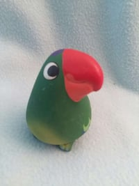 green and red Bird ceramic table decor