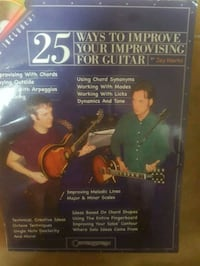 Guitar instructional book on improvisation. Comes w/CD brand new