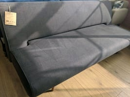 Dark brown fabric sofa bed sleeper last one on display excellent