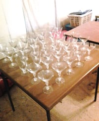 Crystal / silver trimmed cocktail glasses.  Savannah, 31419