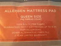 Cannon Allergen Mattress Pad (Queen size) ALEXANDRIA