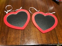 Red heart chalkboard signs  Hamilton, L8H 1X6
