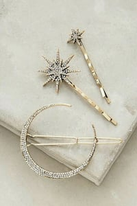 ANTHROPOLOGIE CRYSTAL HAIRPINS