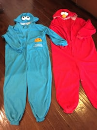 Cookie Monster & Elmo adult size pj's.