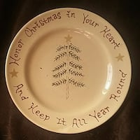 Collectable Christmas Plate Blue Springs