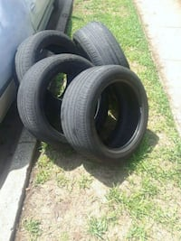 black auto tire set with black rubber tires Fort Worth, 76133