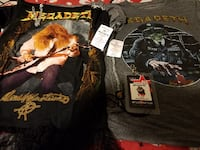 4 Megadeth Symphony of Destruction Undistributed T-Shirts null