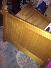brown wooden bed headboard and footboard San Diego, 92129