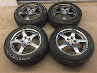 "17"" 5x114.3 rims and tires Mississauga, L5A 3L7"